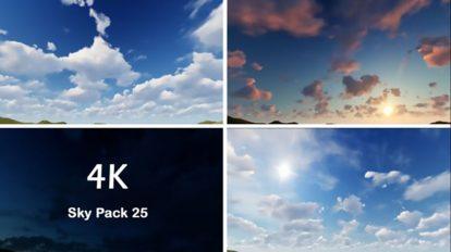 مجموعه 25 فوتیج آسمان Sky Pack