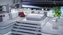 مدل سه بعدی محیط اتاق فضاپیما Space Station Living Quarters