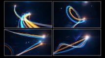 پروژه افترافکت نمایش لوگو با پرتوهای نور Streak Light Reveal