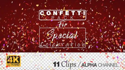 مجموعه فوتیج اجزای تزیینی برای یوتیوب Youtube Celebration Confetti