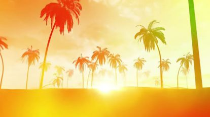 فوتیج زمینه متحرک غروب تابستانی Summer Sunset Background