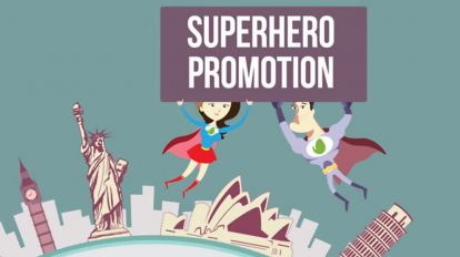 پروژه افترافکت تیزر تبلیغاتی خدمات Superhero Promotes Your App or Service