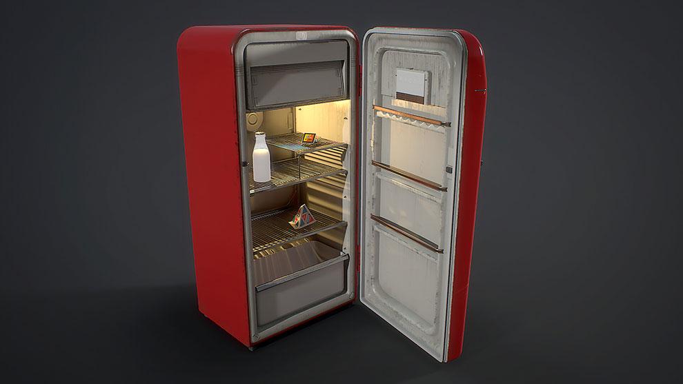 مدل سه بعدی یخچال قدیمی Soviet Fridge