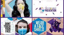 پروژه افترافکت معرفی راه های پیشگیری ویروس کرونا Virus Prevention Promo