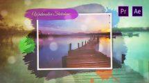پروژه پریمیر اسلایدشو آبرنگ Watercolor Slideshow
