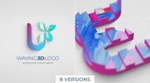 پروژه افترافکت نمایش لوگو موجی Wavy 3D Logo Reveal
