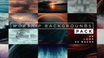 پروژه افترافکت زمینه متحرک Worship Backgrounds Pack