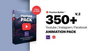 پروژه افترافکت اجزای ویدیویی یوتیوب Youtube Pack Extension Tool