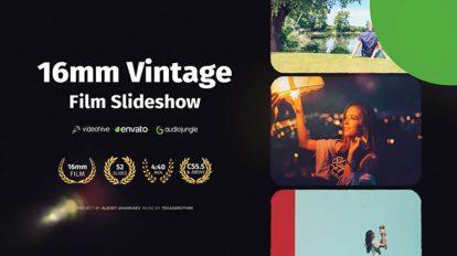 پروژه افترافکت اسلایدشو فیلم Vintage Film Slideshow