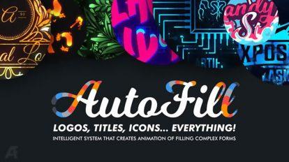 پروژه افترافکت ساخت انیمیشن روی لوگو و عنوان Autofill Animate Titles Logo