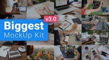 پروژه افترافکت مجموعه موکاپ تجهیزات دیجیتال Digital Device Mockups