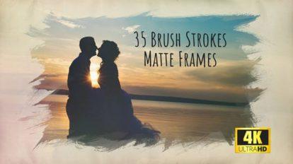 مجموعه فوتیج مت فریم عکس Brush Strokes Matte Frames