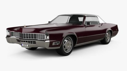 مدل سه بعدی خودرو کادیلاک Cadillac Eldorado Fleetwood