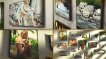پروژه افترافکت گالری عکس Canvas Wrap Photo Gallery