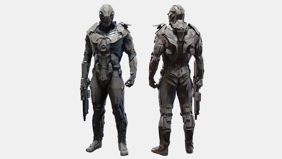 مدل سه بعدی کاراکتر ربات سرباز Character Robot Soldier
