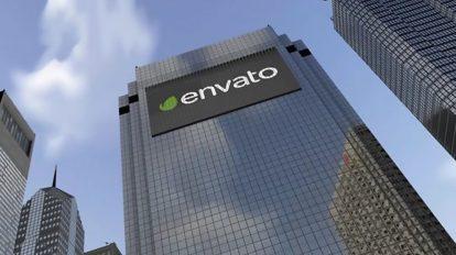 پروژه افترافکت نمایش لوگو روی برج تجاری City Business Center