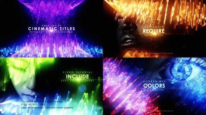 پروژه افترافکت مجموعه عناوین سینمایی Deep Inside Cinematic Titles