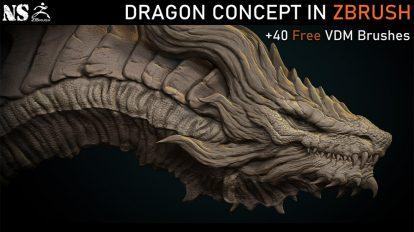 دوره آموزشی ساخت کانسپت مدل سه بعدی اژدها در زیبراش