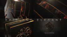 پروژه افترافکت نمایش لوگو حماسی Epic and Elegant Logo Reveal