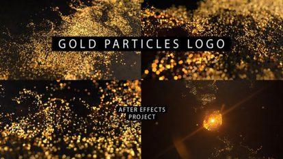 پروژه افترافکت نمایش لوگو پارتیکلی Gold Logo Particles