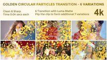 مجموعه موشن گرافیک ترانزیشن پارتیکلی Golden Circular Particles