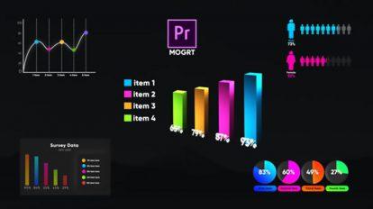 پروژه پریمیر مجموعه اجزای اینفوگرافیک Infographic Smart Graphs