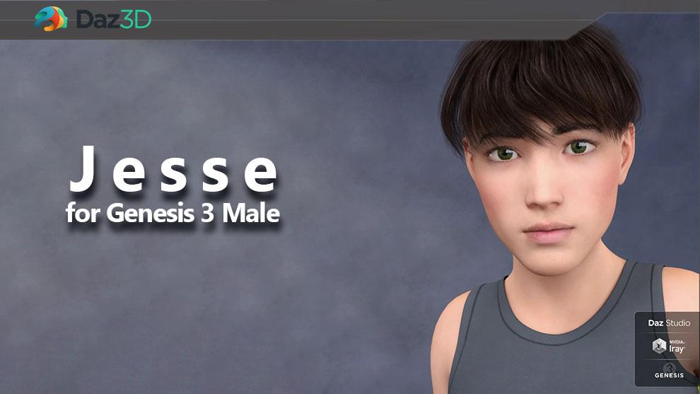 مدل سه بعدی کاراکتر پسر بچه Jesse for Genesis 3 Male