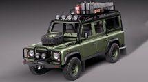 مدل سه بعدی خودرو لندرور Land Rover Defender Expedition