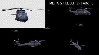 مجموعه فوتیج پرواز هلیکوپتر نظامی Military Helicopters Pack