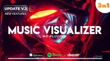 پروژه افترافکت ویژوالایزر موزیک Music Visualizer Tunnel
