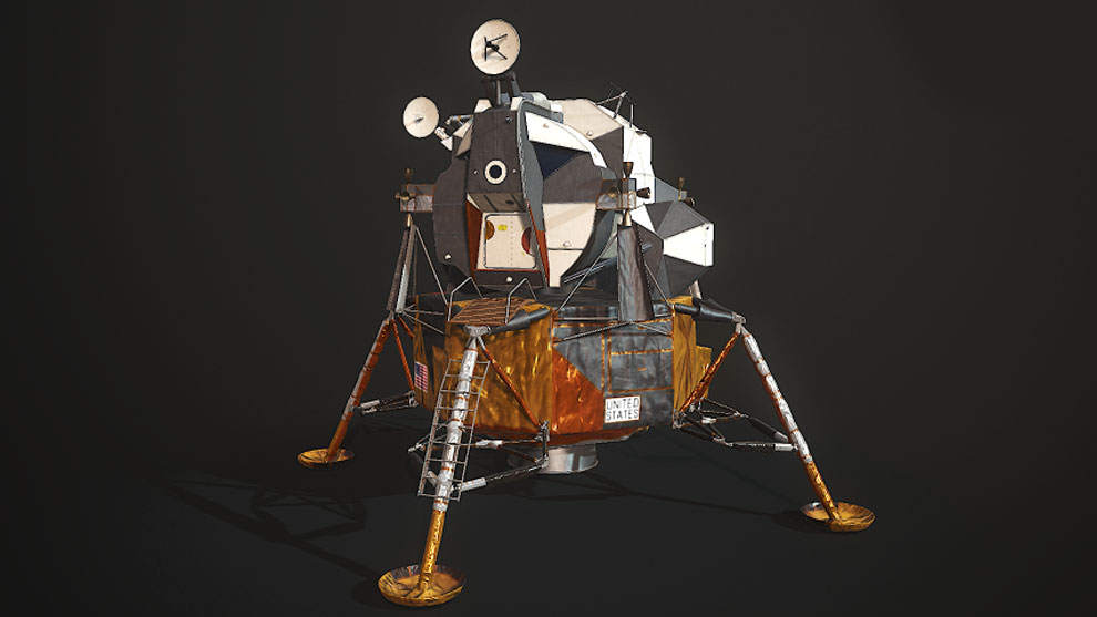 مدل سه بعدی ماژول فضاپیما ماه Nasa Lunar Module