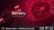 پروژه افترافکت افتتاحیه خبری News Intro Political Events