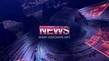 پروژه افترافکت اینترو خبری News Tonight Intro