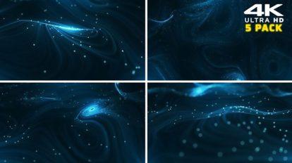 مجموعه فوتیج موشن گرافیک پارتیکلی Particles