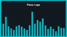 موزیک زمینه لوگو با پیانو Piano Logo