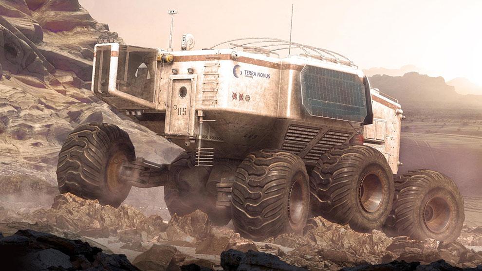مدل سه بعدی ماشین مریخ نورد Planetary Rover