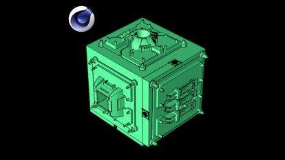 پلاگین سینمافوردی Poly Greeble ابزار ساخت سیستم صنعتی پیچیده