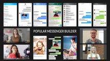 پروژه افترافکت نمایش چت در پیام رسان Popular Messenger Builder