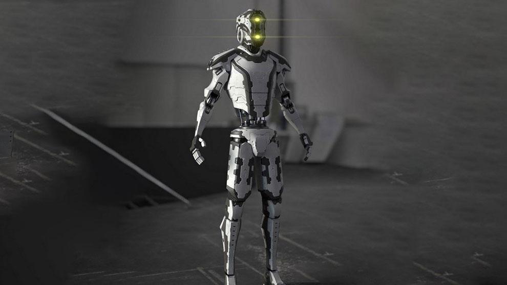 مدل سه بعدی ربات پلیس Quandero 2 Police Bot