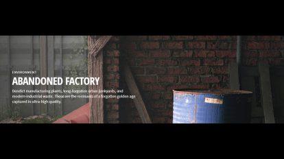 مجموعه تکسچر اجزای کارخانه متروکه Quixel Abondoned Factory