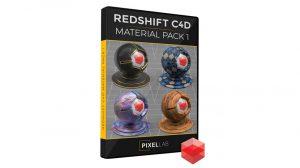 مجموعه متریال ردشیفت برای سینمافوردی Redshift C4D Material Pack 1