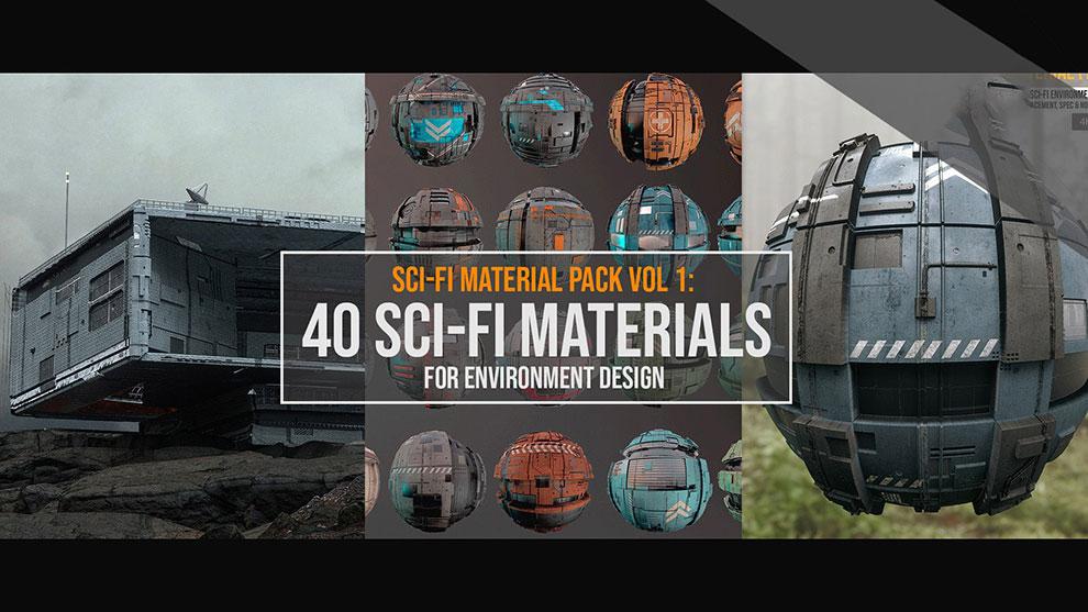 مجموعه تکسچر سطوح صنعتی Sci-Fi Material Pack Vol.1