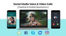 پروژه افترافکت نمایش ویس کال و ویدیو کال Social Media Voice Video Calls