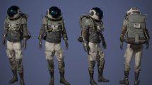 مدل سه بعدی کاراکتر زن کاوشگر Space Chick