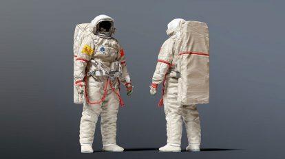 مدل سه بعدی لباس فضانورد چینی Spacesuit China Feitian