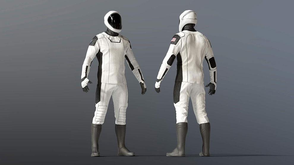 مدل سه بعدی لباس فضانورد Spacesuit SpaceX Dragon Starman