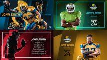 پروژه افترافکت نمایش پروفایل بازیکن ورزشی Sport Player Profiles