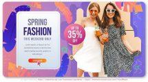 پروژه افترافکت اسلایدشو فشن Spring Fashion Slideshow