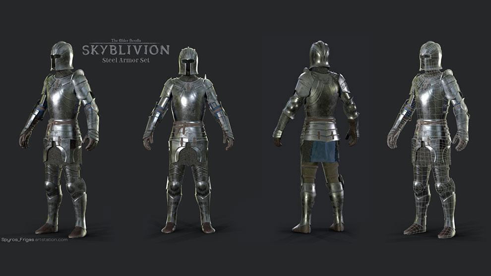 مدل سه بعدی زره فولادی Steel Armor Set
