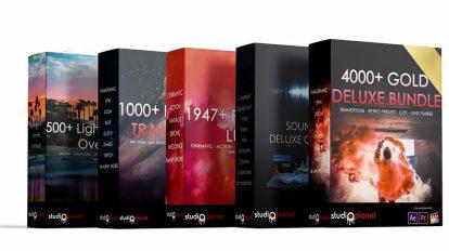 مجموعه افکت های ویدیویی استودیویی Gold Deluxe Bundle Collection